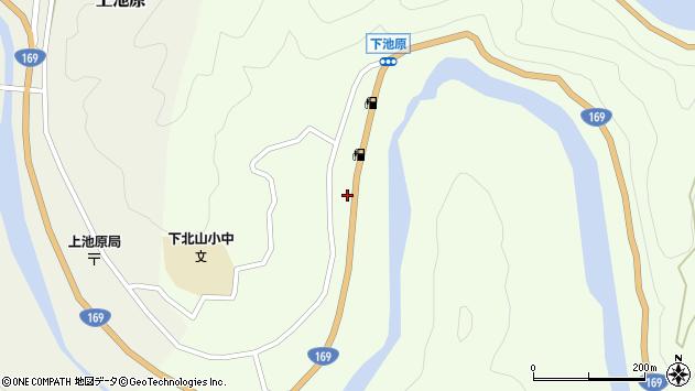 〒639-3806 奈良県吉野郡下北山村下池原の地図