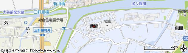 徳島県徳島市雑賀町(西開)周辺の地図