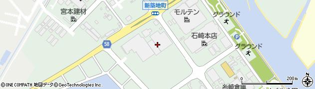 山口県防府市新築地町周辺の地図