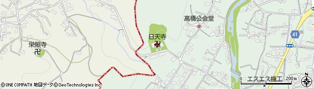 日天寺周辺の地図