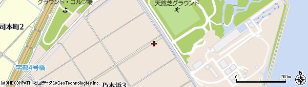 山口県下関市乃木浜周辺の地図
