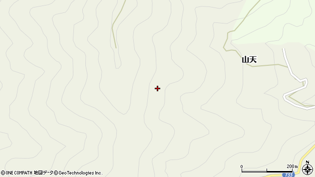 〒637-1222 奈良県吉野郡十津川村山天の地図