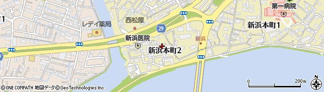 徳島県徳島市新浜本町2丁目周辺の地図
