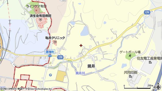 〒643-0023 和歌山県有田郡有田川町熊井の地図