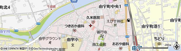 山口県岩国市由宇町中央周辺の地図