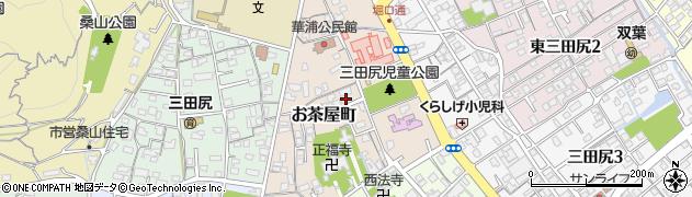 山口県防府市お茶屋町周辺の地図