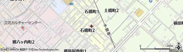 愛媛県今治市石橋町周辺の地図
