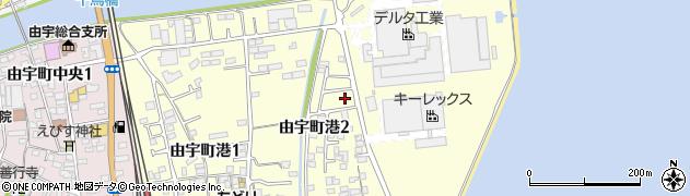 山口県岩国市由宇町港周辺の地図