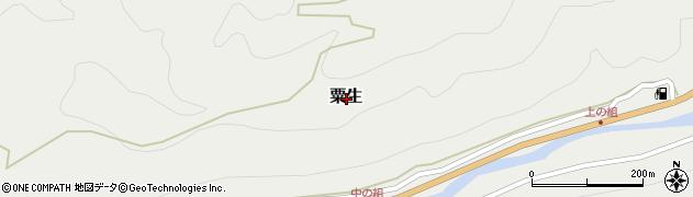 和歌山県有田郡有田川町粟生周辺の地図
