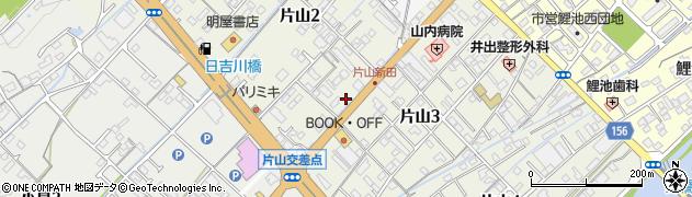 愛媛県今治市片山周辺の地図