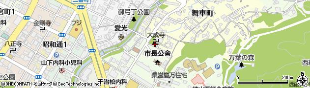 大成寺周辺の地図