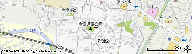 山口県防府市岸津周辺の地図