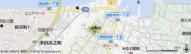 津田寺周辺の地図
