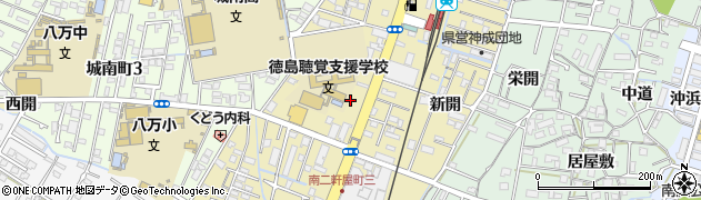 徳島県徳島市南二軒屋町2丁目周辺の地図