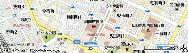 山口県周南市周辺の地図