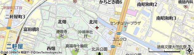 徳島県徳島市沖浜町(北川)周辺の地図
