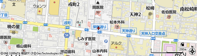 山口県防府市栄町周辺の地図
