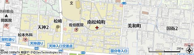 山口県防府市南松崎町周辺の地図