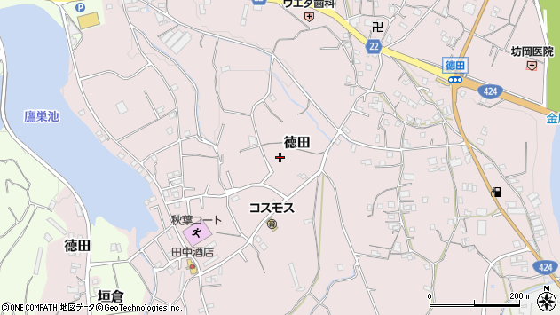 〒643-0801 和歌山県有田郡有田川町徳田の地図
