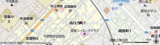 愛媛県今治市南日吉町周辺の地図