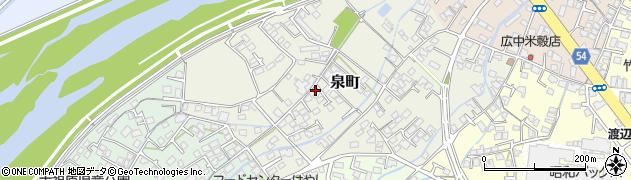 山口県防府市泉町周辺の地図