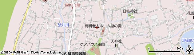 徳島県徳島市名東町周辺の地図