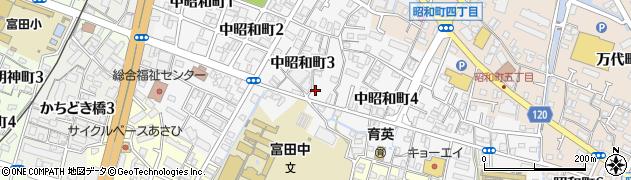 徳島県徳島市中昭和町周辺の地図