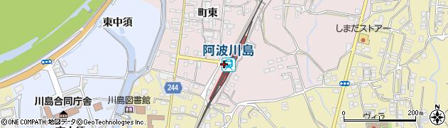 徳島県吉野川市周辺の地図