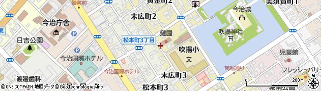 愛媛県今治市末広町周辺の地図
