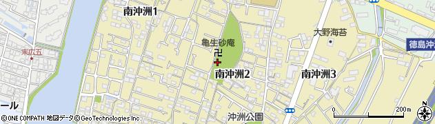 徳島県徳島市南沖洲2丁目周辺の地図