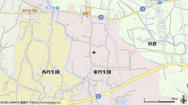 〒643-0803 和歌山県有田郡有田川町東丹生図の地図