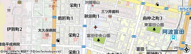 徳島県徳島市秋田町周辺の地図