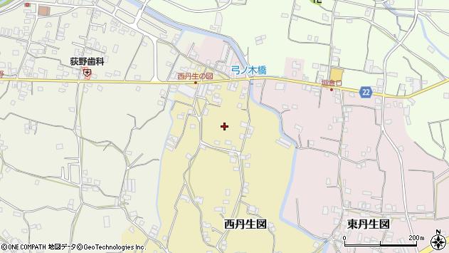 〒643-0813 和歌山県有田郡有田川町西丹生図の地図