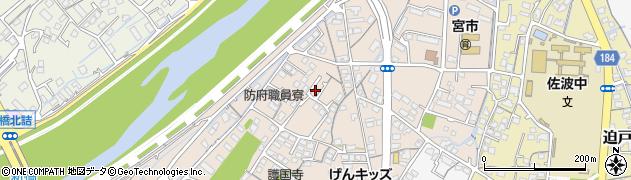 山口県防府市本橋町周辺の地図
