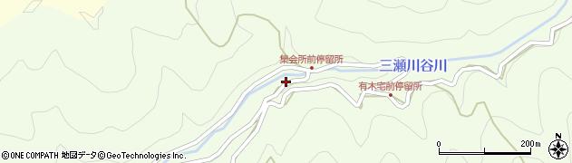 和歌山県有田郡有田川町三瀬川周辺の地図