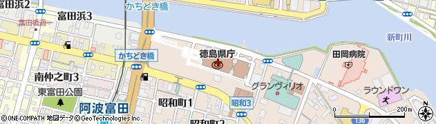 徳島県周辺の地図
