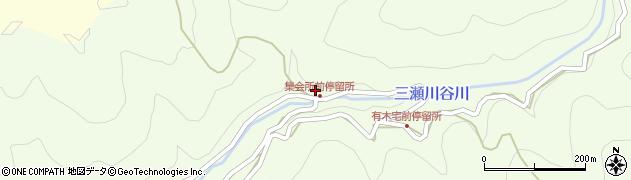 和歌山県有田郡有田川町三瀬川86周辺の地図