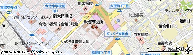 愛媛県今治市周辺の地図