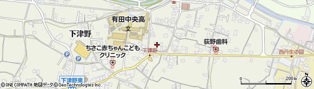 和歌山県有田郡有田川町下津野周辺の地図