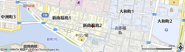 徳島県徳島市新南福島2丁目周辺の地図