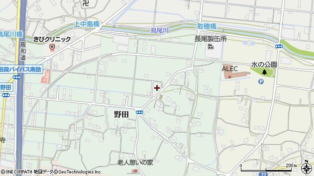 〒643-0031 和歌山県有田郡有田川町野田の地図