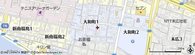 徳島県徳島市大和町1丁目周辺の地図