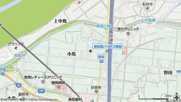 〒643-0034 和歌山県有田郡有田川町小島の地図