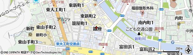 徳島県徳島市銀座周辺の地図