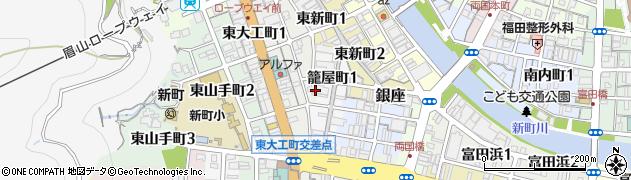 籠屋町アビタシオン周辺の地図