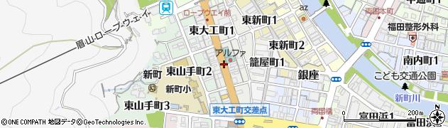 徳島県徳島市東大工町周辺の地図
