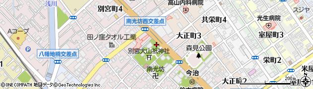 奈良原神社周辺の地図