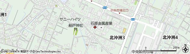 徳島県徳島市北沖洲周辺の地図