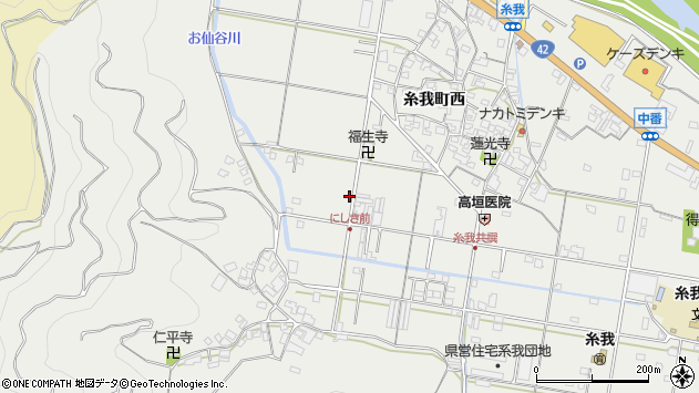 〒649-0422 和歌山県有田市糸我町西の地図