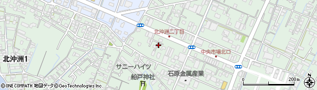 徳島県徳島市北沖洲2丁目周辺の地図